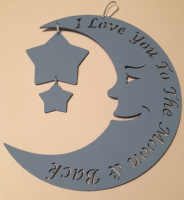 Moon and Star Plaque